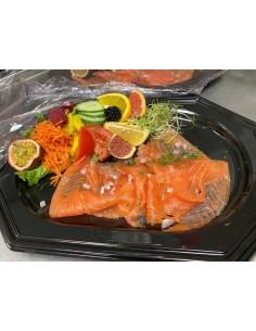 L'assiette de saumon fumé...
