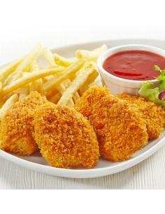 6 nuggets de poulet frites