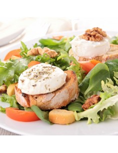 Salade de chèvre chaud sur toast